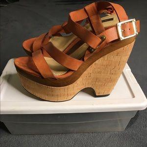 Rachel Zoe wedged sandal.